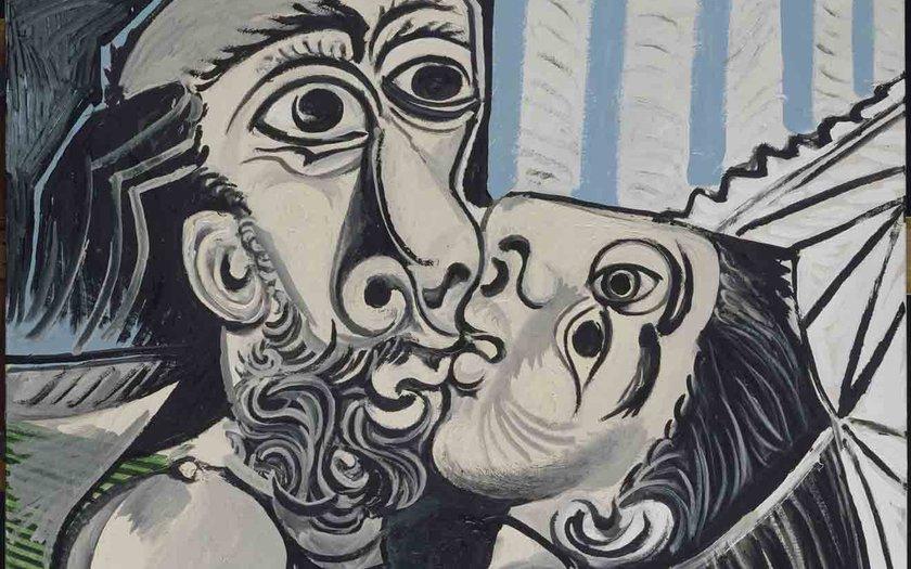 Pablo Picasso, Le Baiser (Mougins, 26 outubro 1969). Óleo sobre tela, 97x130 cm. Musée national Picasso-Paris. Foto © RMN-Grand Palais (Musée national Picasso-Paris)  Berizzi Jean-Gilles © Successio.jpg