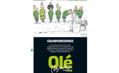"""Capa do argentino """"Olé"""""""