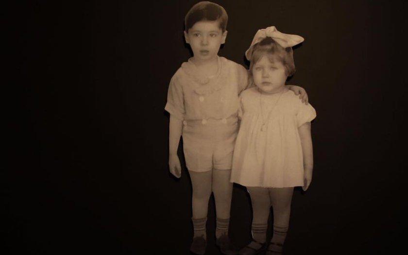 A primeira foto que Silvio tirou na vida é também a que nos recebe na entrada da exposição