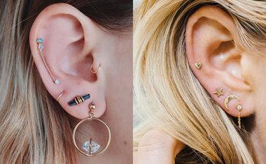 Pircings na orelha