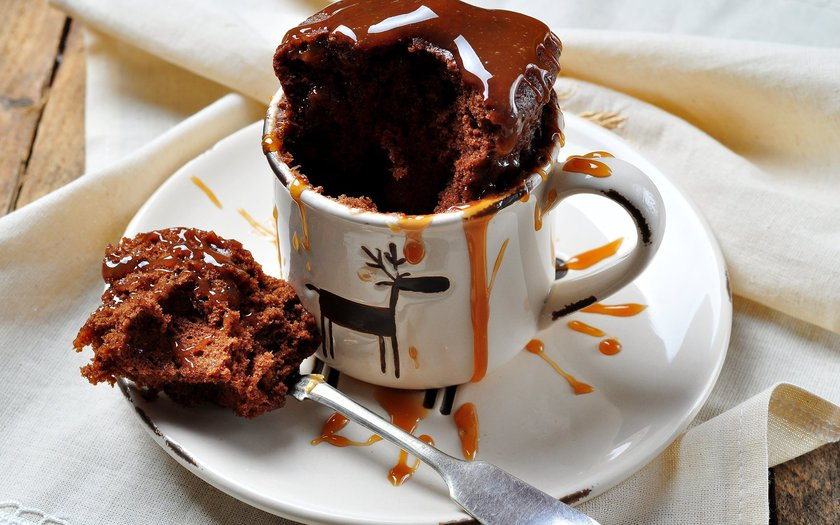 Bolo de caneca de chocolate light