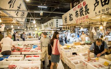 Tsukiji Fish Market, o maior mercado de peixe do mundo