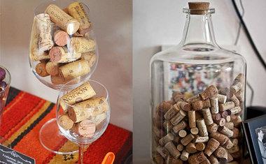 Vasos, garrafas e taças
