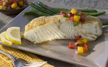 Peixe Grelhado com Limão e Ervas