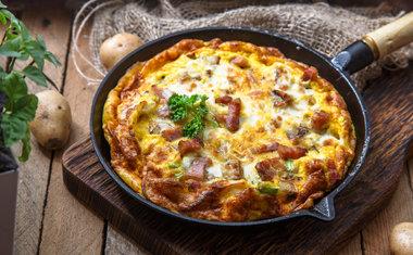 Omelete de Bacon com Provolone