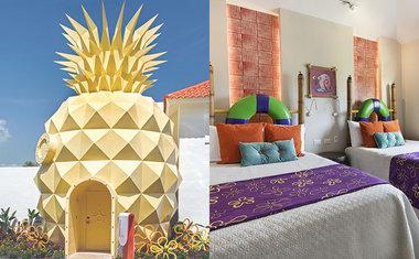 Dentro do abacaxi do Bob Esponja