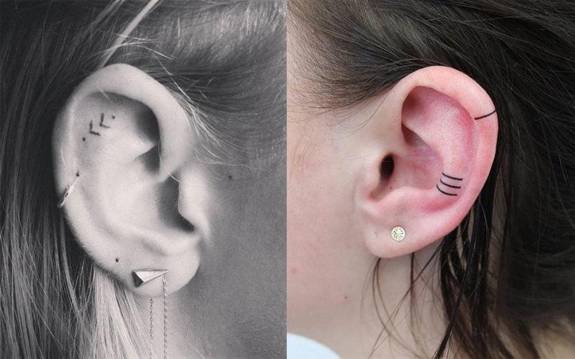 12 Ideias De Tatuagens Na Orelha Que Vão Te Inspirar A Fazer Uma