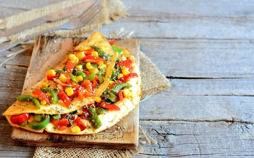 Omelete com vegetais