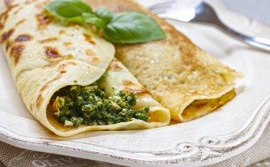 Panqueca de brócolis e ricota