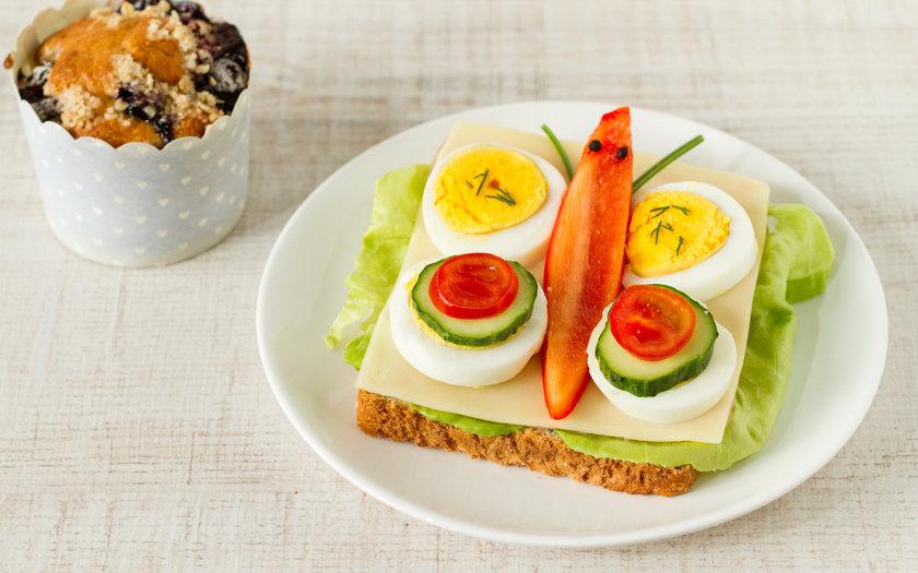 Sanduíche de ovo e queijo