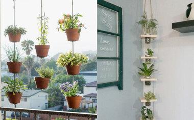 10 inspirações de hortas e jardins para testar no seu apartamento