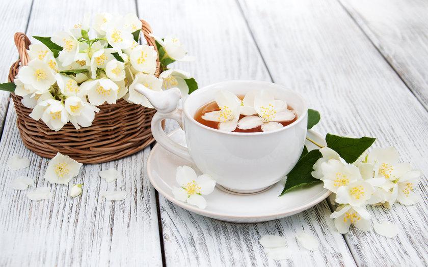 Chá de infusão de flores
