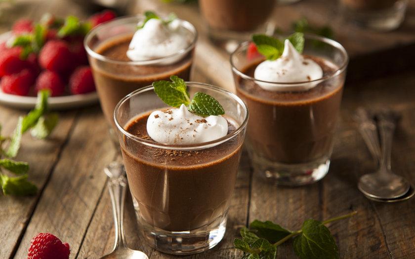 Mousse de Chocolate com Creme de Ricota