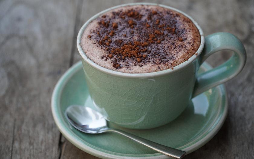Chocolate quente com coco