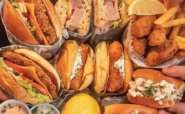 Para fugir do óbvio: Notorious Fish entrega sanduíches preparados com pescados e frutos do mar