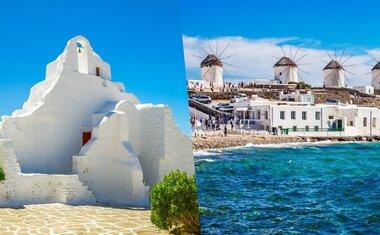 6 atrações turísticas em Mykonos, na Grécia, para ver online