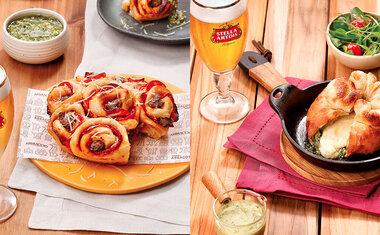 Aperitivos feitos com cerveja Stella Artois chegam ao menu do Abbraccio; saiba tudo!