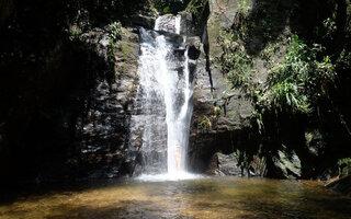Tomar banho de cachoeira no Horto