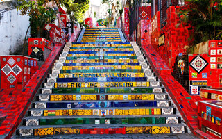 Subir a Escadaria Selarón