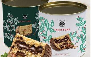 Panettone Starbucks Avelã e Chocolate