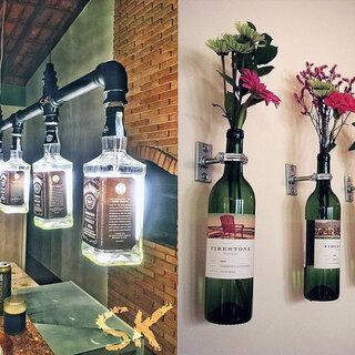 Casa e decoração: 22 maneiras criativas de utilizar garrafas de vidro na decoração da sua casa