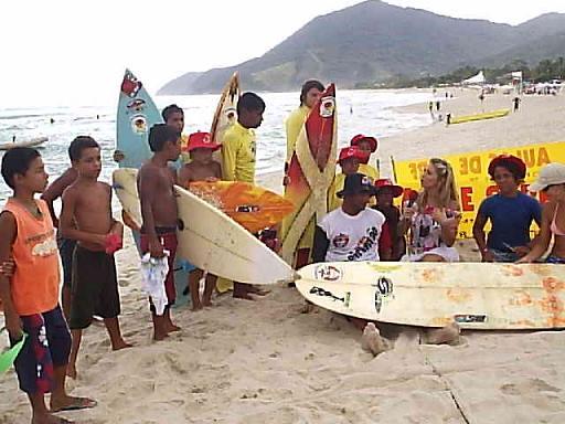 Escola de Surf do professor Marco Aurélio