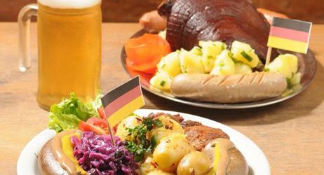 Pratos e comidas do Oktoberfest