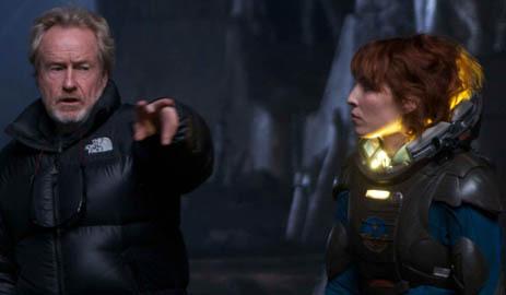Ridley Scott dirige o filme Prometheus