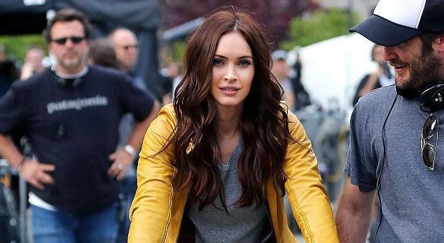 "Megan Fox no set de ""As Tartarugas Ninja"" (2014)"