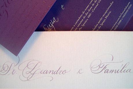 Compras: Caligrafia para convites de casamento