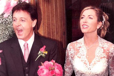 Casamento de Paul McCartney e Heather Mills está no ranking dos mais caros Créditos: Reprodução