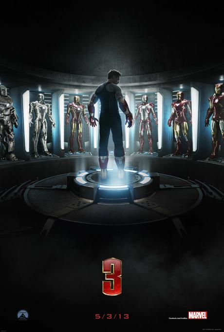 poster comic con iron man 3