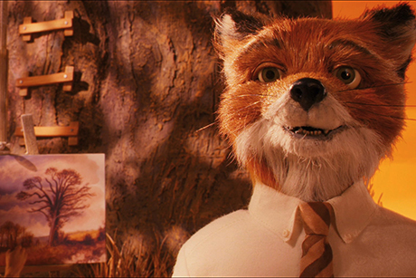 Raposa sorrindo em cena de O Fantástico Sr. Raposo