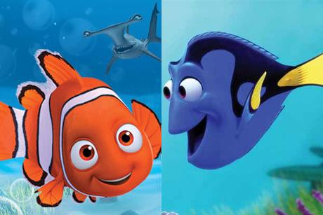 Montagem com Procurando Nemo e Procurando Dory