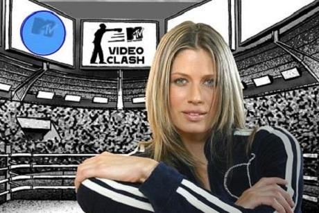 Didi Wagner à frente do cenário no VideoClash MTV