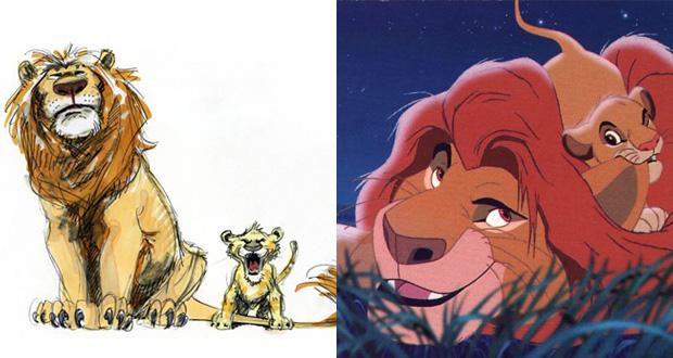 Mufasa e Simba (Rei Leão)