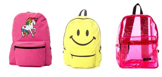 mochilas para início das aulas