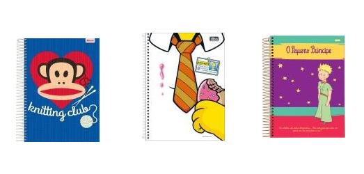 cadernos para início das aulas