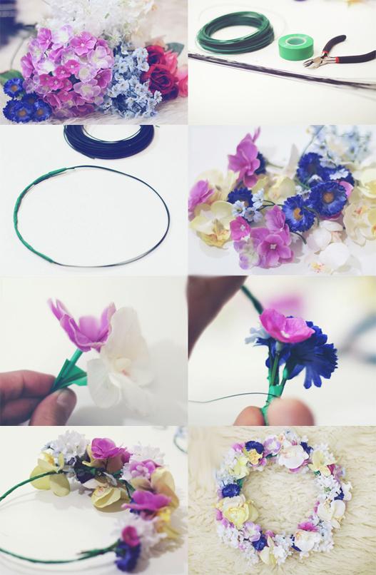 coroa de flores como fazer