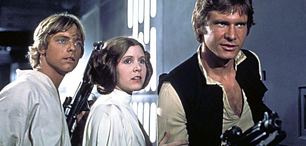 Luke, Leia e Han Solo em Star Wars