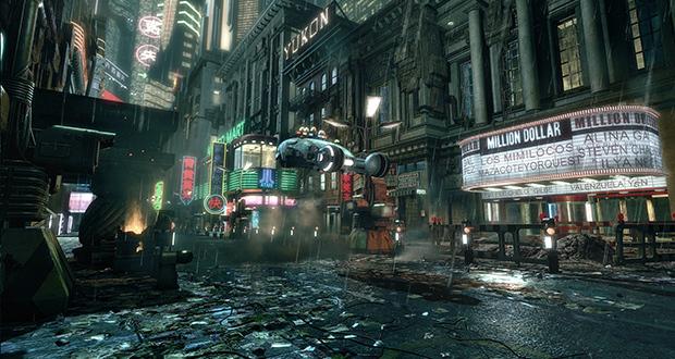 Cenário de Blade Runner
