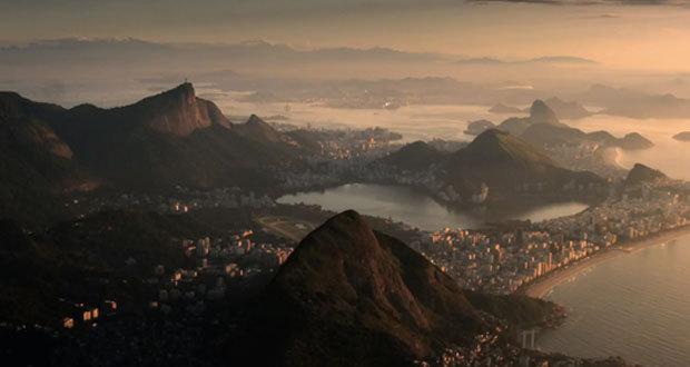 Vista aérea do Rio de Janeiro mostrada no filme