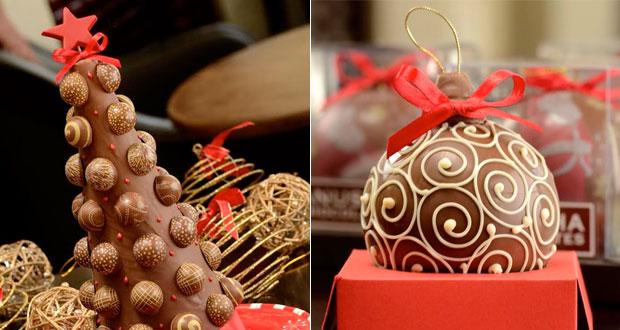 Chocolates decorativos para ceia - Anusha Chocolates