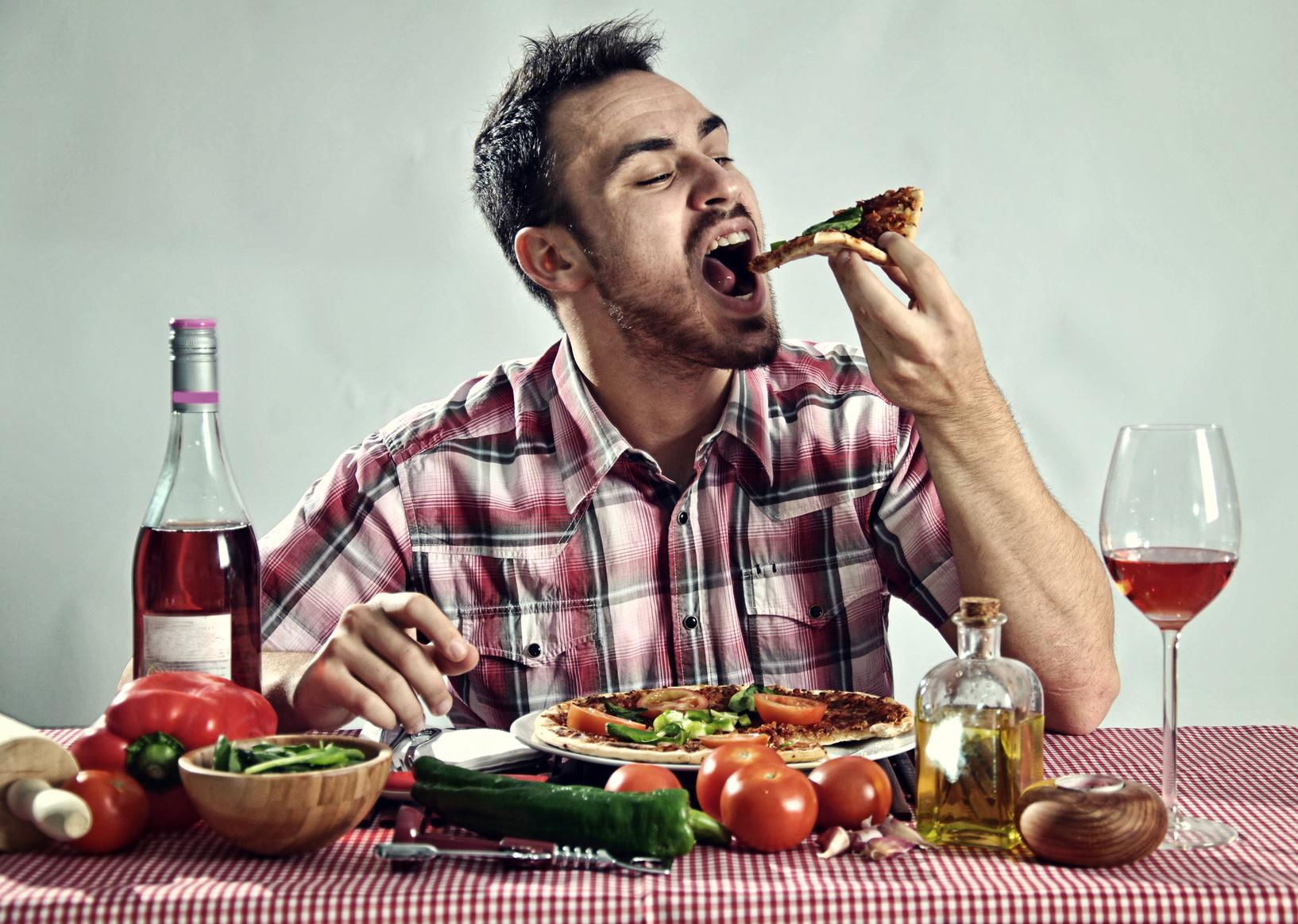 Comer muito rápido