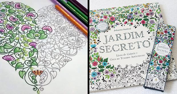 Jardim Secreto – Livro de Colorir e Caça ao Tesouro Antiestresse
