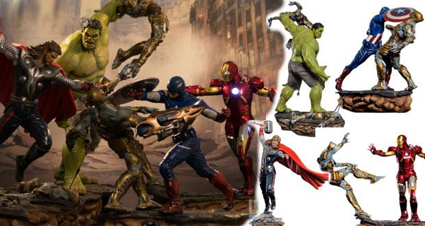 Diorama dos Vingadores completo (escala 1:6)