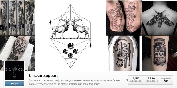 tatuagem black art support
