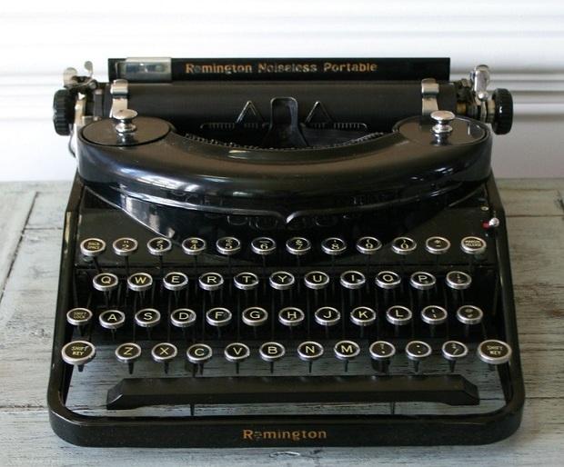 Máquina de escrever para decorar a casa
