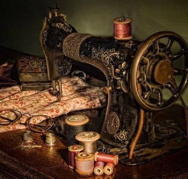 máquina de costura para decoração da casa