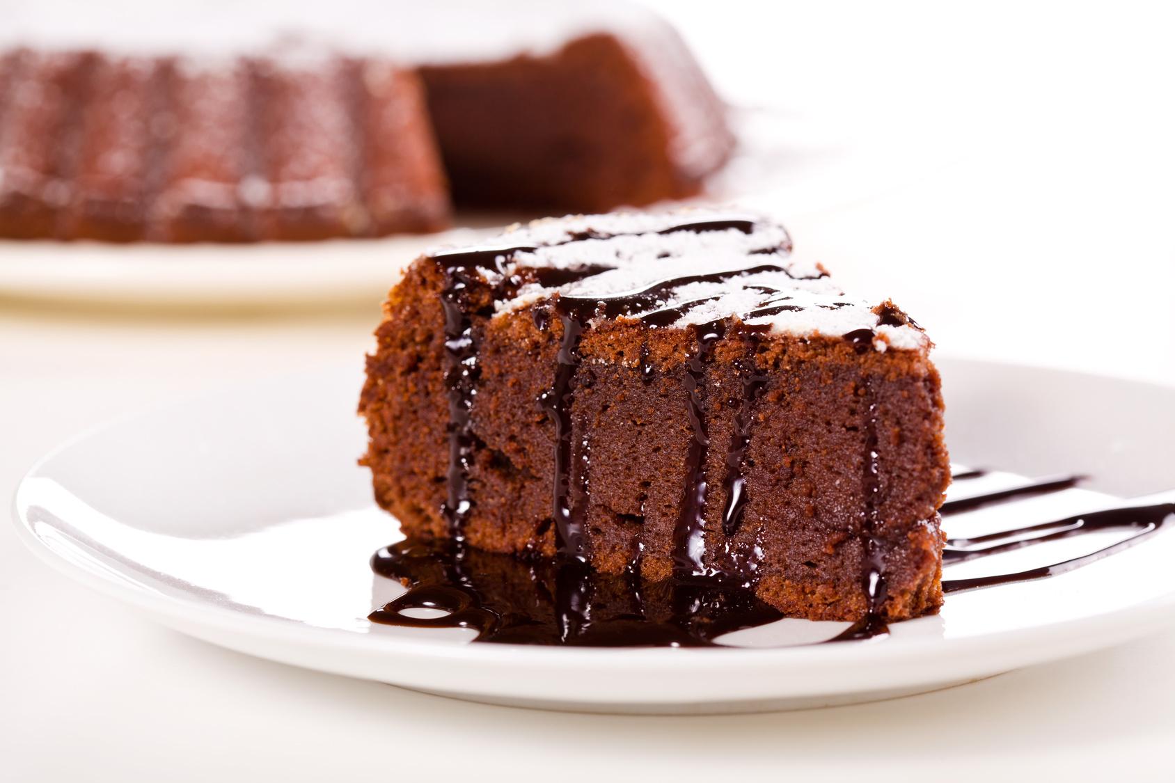 Bolo de chocolate com chia